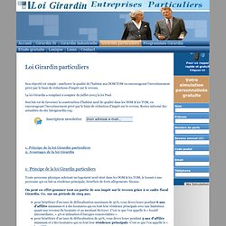 Loi Girardin particuliers, defiscalisation