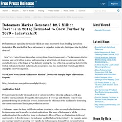Defoamers market News: Defoamers Market Generated $2.7 Million Revenue in 2014; Estimated to Grow Further by 2020 - IndustryARC