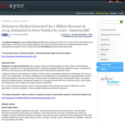 Defoamers Market Generated $2.7 Million Revenue in 2014; Estimated to Grow Further by 2020 - IndustryARC