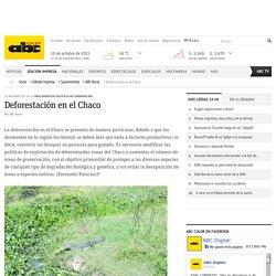 Deforestación en el Chaco