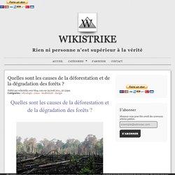 Quelles sont les causes de la déforestation et de la dégradation des forêts ?