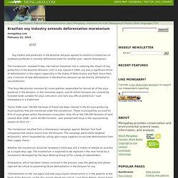 Brazilian soy industry extends deforestation moratorium