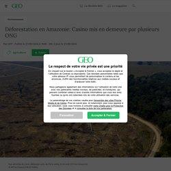 Déforestation en Amazonie: Casino mis en demeure par plusieurs ONG Par AFP - Publié le 21/09/2020 à 7h00 - Mis à jour le 21/09/2020