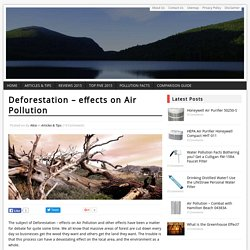 Deforestation - effects on Air Pollution