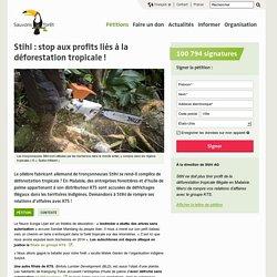 Stihl : stop aux profits liés à la déforestation tropicale