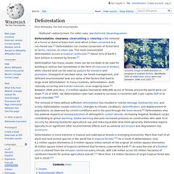 Deforestation - Wikipedia