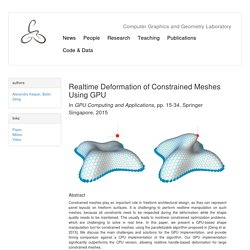 Realtime Deformation of Constrained Meshes Using GPU