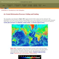 Crustal Deformation Processes: Folding and Faulting