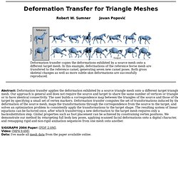 Deformation Transfer for Triangle Meshe