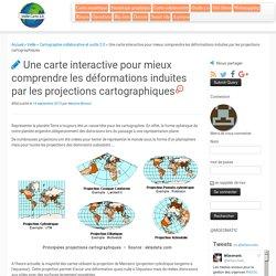 Une carte interactive pour mieux comprendre les déformations induites par les projections cartographiques