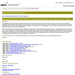 Defra, UK - Science Search
