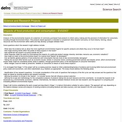 DEFRA - 2007 - Impacts of food production and consumption