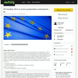 Online Course - EU funding: How to access programmes and projects - M