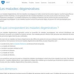 Liste des maladies dégénératives, de leurs symptômes et traitements