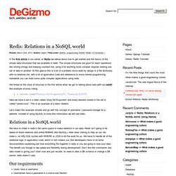 Blog Archive » Redis: Relations in a NoSQL world