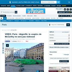 Paris : dégonflé, le «sapin» de McCarthy ne sera pas redressé