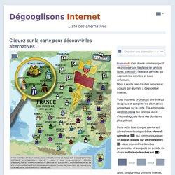 Dégooglisons Internet - Liste des alternatives