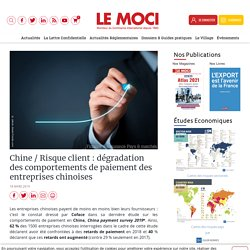 Chine / Risque client : dégradation des comportements de paiement des entreprises chinoises