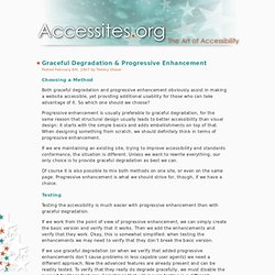 Graceful Degradation & Progressive Enhancement - Accessites.or