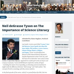 Neil deGrasse Tyson on The Importance of Science Literacy