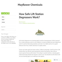 How Safe Lift Station Degreasers Work