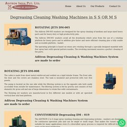 Degreasing Cleaning Machines for auto or plastic parts-Aiplen Noida , India
