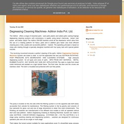 Aditron India Pvt. Ltd.: Degreasing Cleaning Machines- Aditron India Pvt. Ltd.