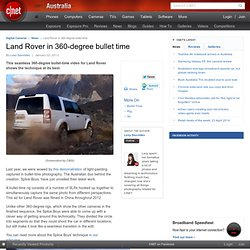 Land Rover in 360-degree bullet time