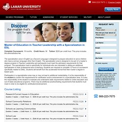 Degree Programs | Lamar University Online