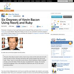 Six Degrees of Kevin Bacon Using Neo4j and Ruby