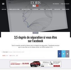 3,5degrés de séparation si vous êtes sur Facebook