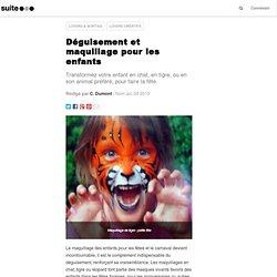 Déguisement et maquillage pour les enfants: Pour le carnaval ou mardi gras des costumes et grimages d'animaux