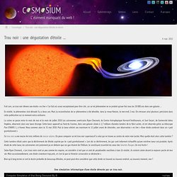 Trou noir : une dégustation d'étoile en direct | Cosmosium