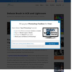 Dehaze Brush in ACR and Lightroom - f64 Academy