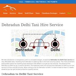 Dehradun to Delhi Taxi Service
