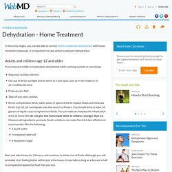 Dehydration-Home Treatment