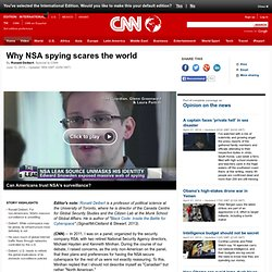Deibert: Why NSA spying scares the world