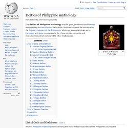 Deities of Philippine mythology