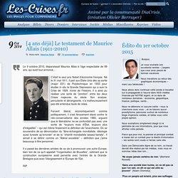 » [4 ans déjà] Le testament de Maurice Allais (1911-2010)