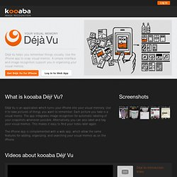 Deja Vu - your visual memory