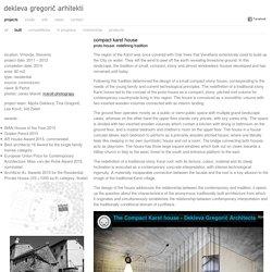 dekleva gregorič arhitekti » compact karst house