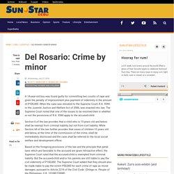 Del Rosario: Crime by minor