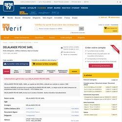 Société DELALANDE PECHE SARL à BALLAN MIRE (Chiffre d'affaires, bilans, résultat) avec Verif.com - Siren 348712993