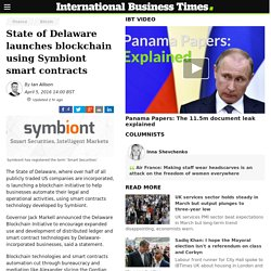 State of Delaware launches blockchain using Symbiont smart contracts