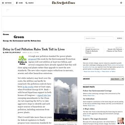 Delay in Coal Pollution Rules Took Toll in Lives