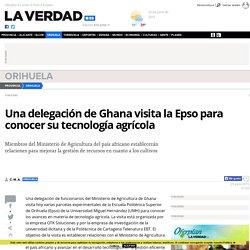 Una delegación de Ghana visita la Epso para conocer su tecnología agrícola