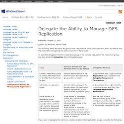 Delegate the Ability to Manage DFS Replication