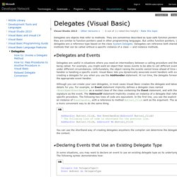 Delegates (Visual Basic)