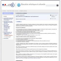 La délégation académique - Éducation artistique et culturelle
