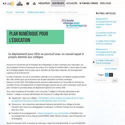 Plan numérique pour l'éducation - Délégation académique au numérique éducatif